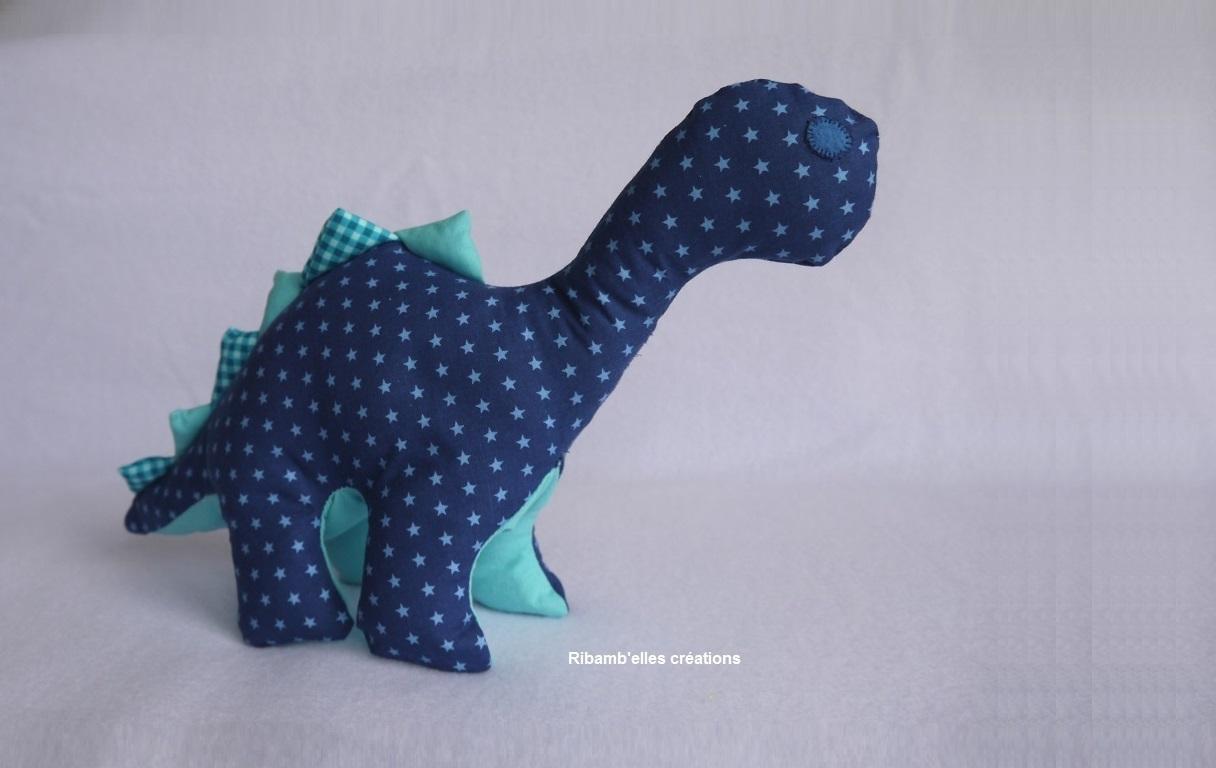 Dinosaure bleu & turquoise