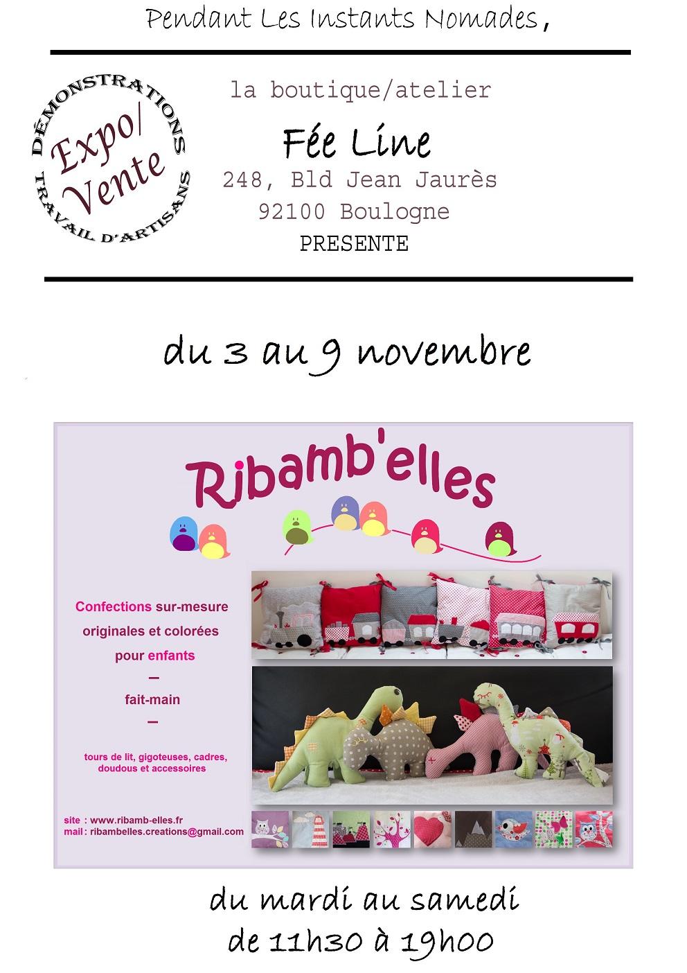 affiche Ribamb'elles - creations pour enfants