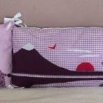 Tour de lit rose violet parme girafes 00