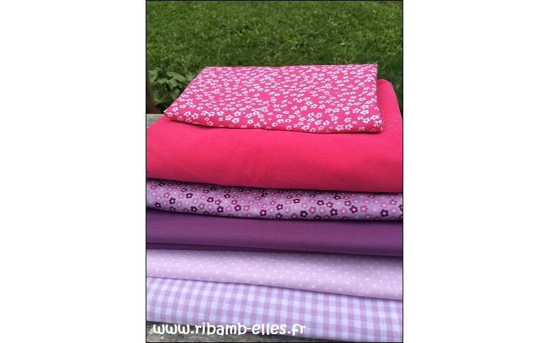 Tour de lit rose violet parme girafes 01