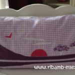 Tour de lit rose violet parme girafes 05