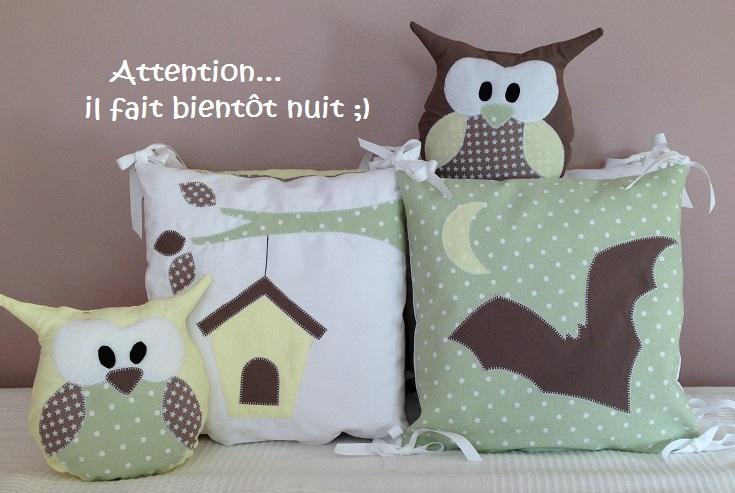 Collection hibou Vert/Jaune/Marron
