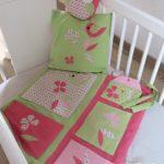Vide poche de lit vert rose 002