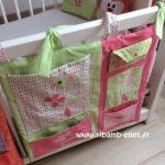 Vide-poche-de-lit-vert-rose-Boutique