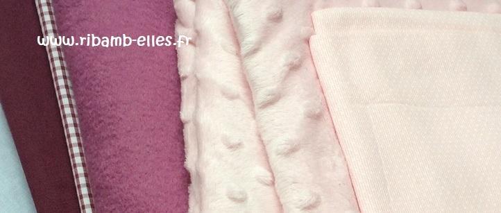 Tissus tour de parc hibou 9 coussins rose prune - Copie
