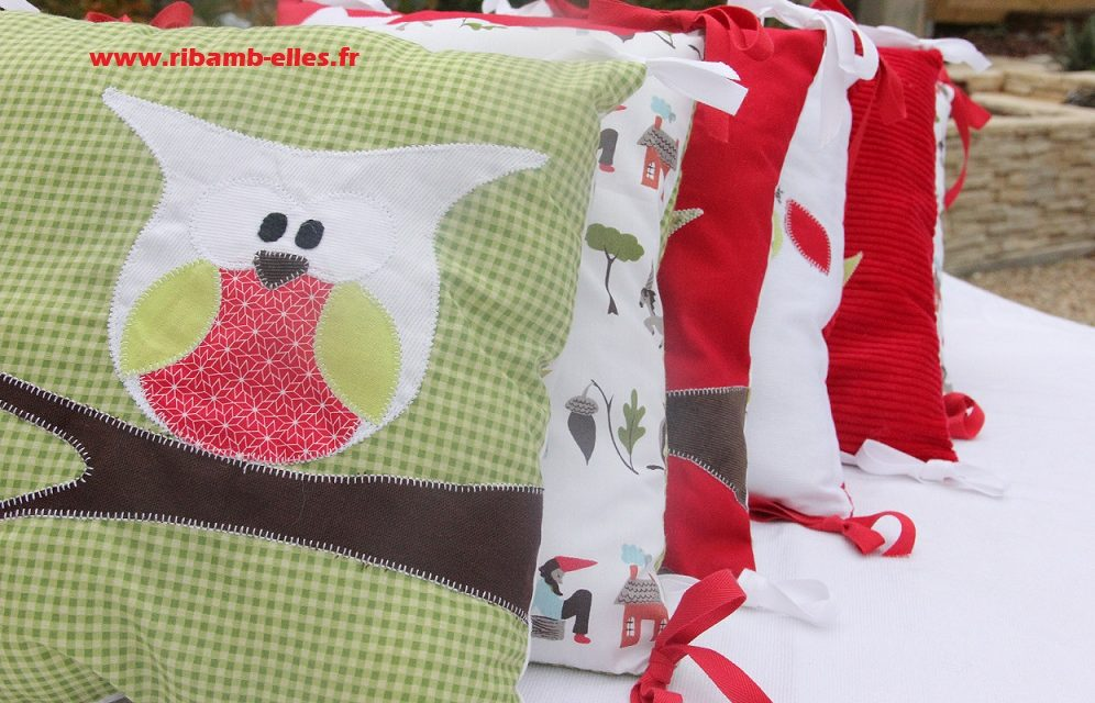 Collection Hibou Vert/Rouge/Blanc