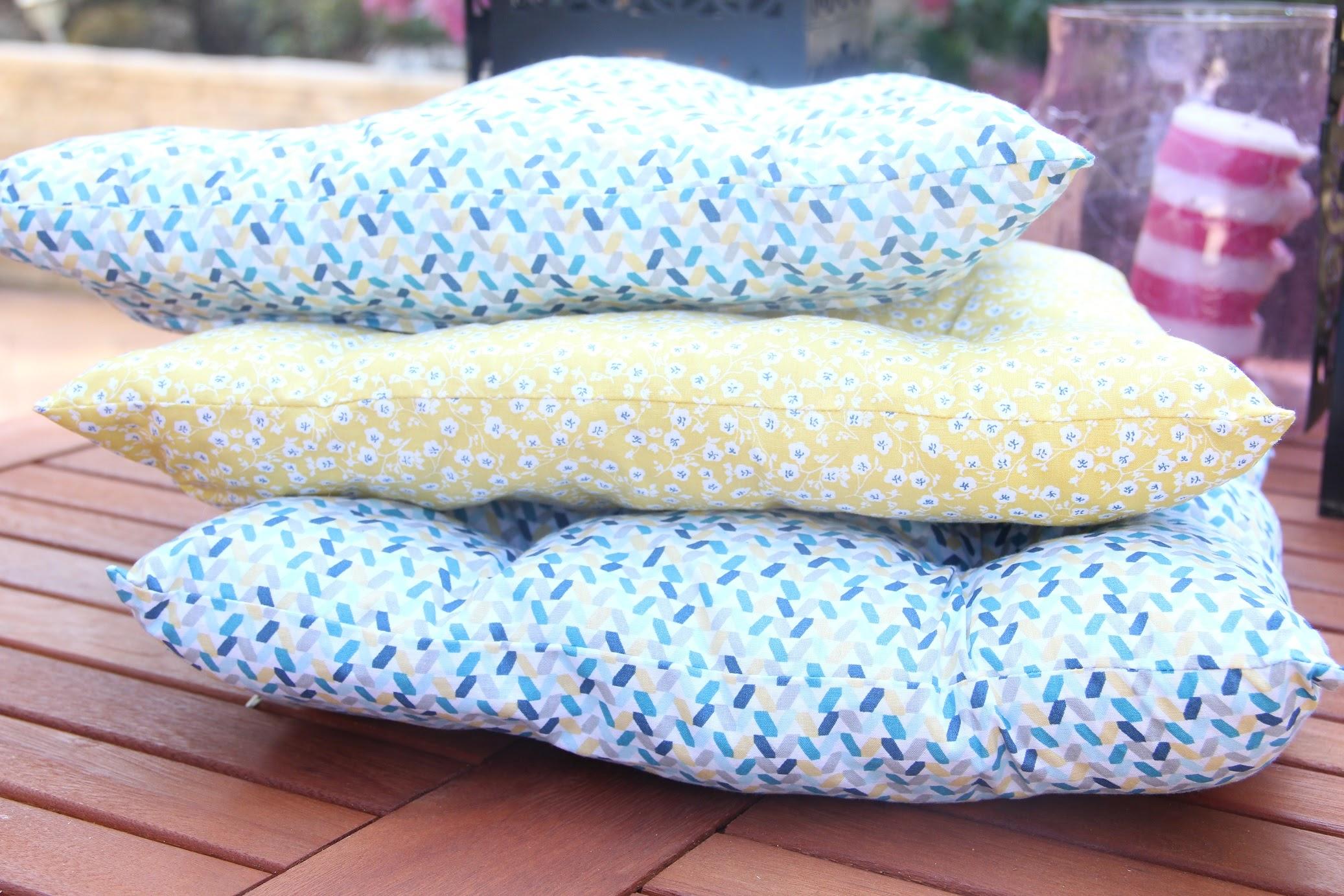 Des coussins pour ma terrasse