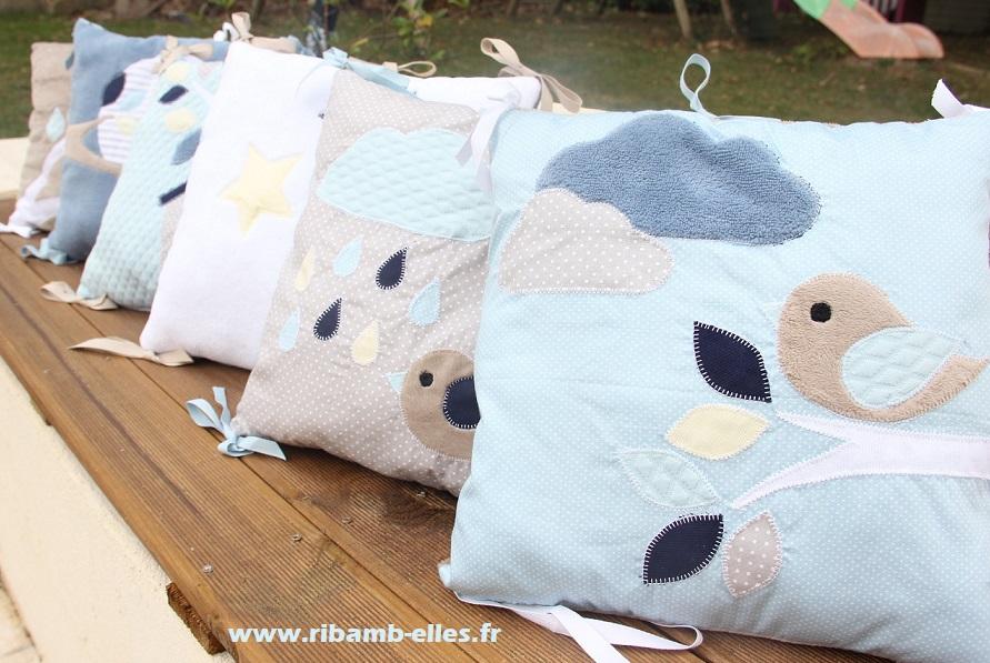 Collection Hiboux Bleu/Taupe