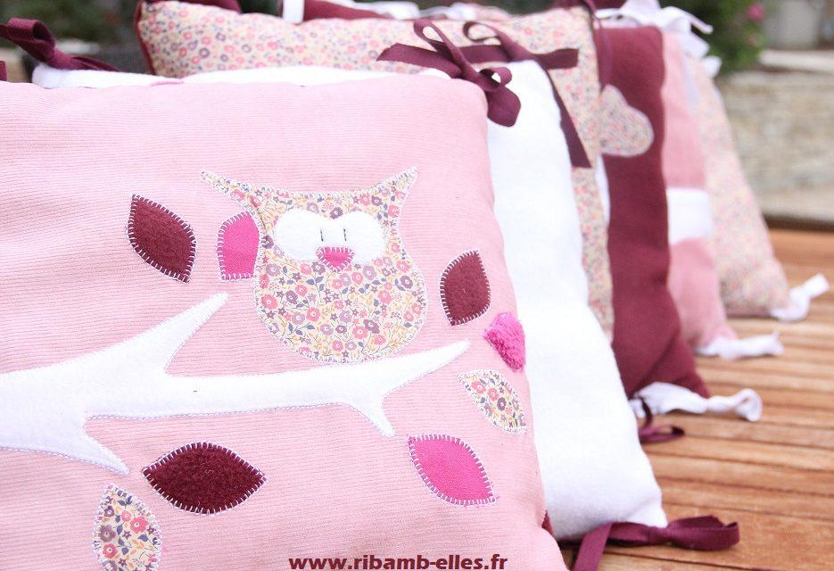 Collection Hiboux Vieux Rose/Bordeaux