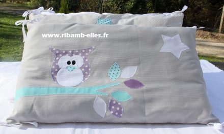 Collection Hibou Taupe/Blanc/parme/Turquoise
