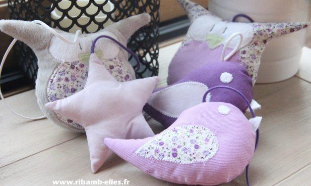 Collection Hiboux Mauve/Liberty/Violet