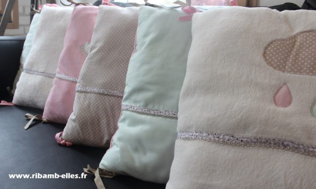 Collection Nuage Rose/Blanc/Taupe