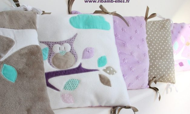 Collection Hibou Parme/Taupe/Turquoise