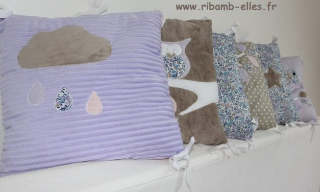 Collection Hibou Parme/Taupe/Rose