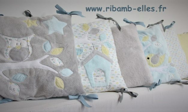 Collection Hibou Jaune/Gris/Bleu