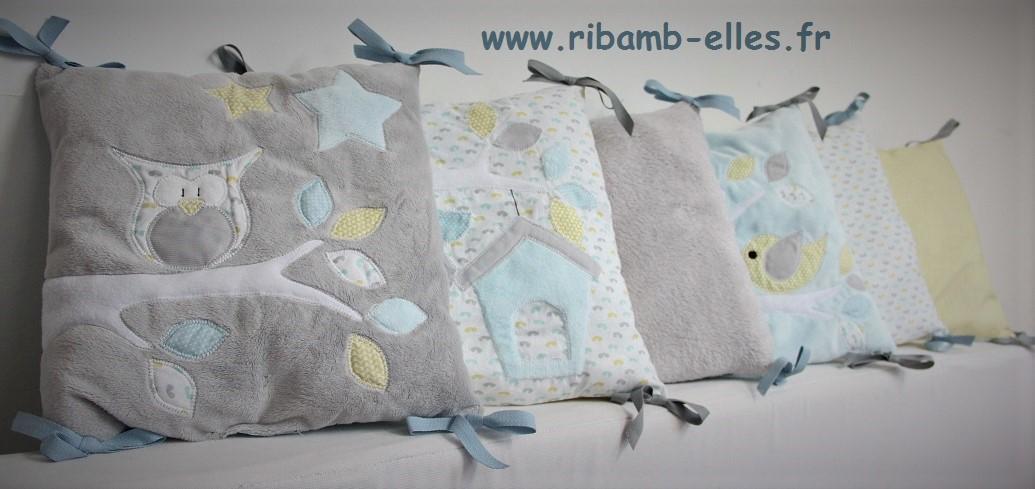 Collection Hibou Jaune/Gris/Bleu