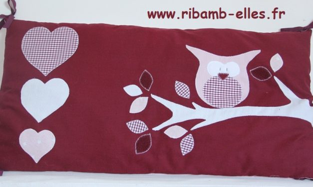 Collection hibou et cœur rose/Bordeaux